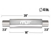 Глушитель универсальный Magnaflow 10416 Матовый 4in. Round