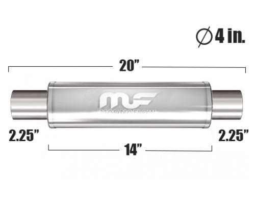 Глушитель универсальный Magnaflow 10445 Матовый 4in. Round