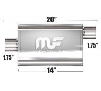 Глушитель универсальный Magnaflow 11123 Матовый 3.5in.x7in. Oval