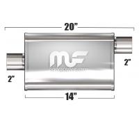 Глушитель универсальный Magnaflow 11124 Матовый 3.5in.x7in. Oval
