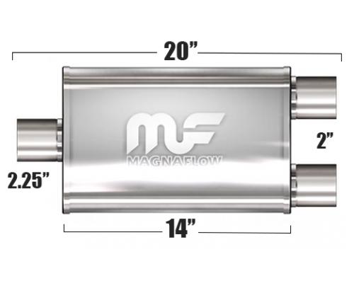 Глушитель универсальный Magnaflow 11148 Матовый 3.5in.x7in. Oval