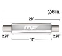 Глушитель универсальный Magnaflow 12615 Матовый 6in. Round