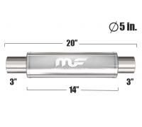 Глушитель универсальный Magnaflow 12867 Матовый 5in. Round