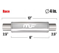 Глушитель универсальный Magnaflow 14156 Полированный 4in. Round
