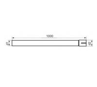 Труба нержавеющая AISI-304 сталь с адаптером диаметр 76 (длина 1000мм)