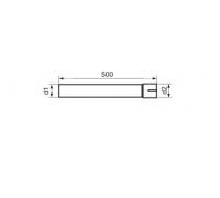 Труба нержавеющая AISI-304 сталь с адаптером диаметр 50  (длина 500мм)