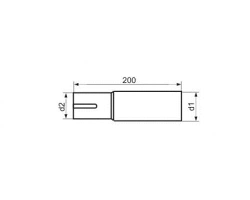 Адаптер одиночный 55 диаметр EML55d2